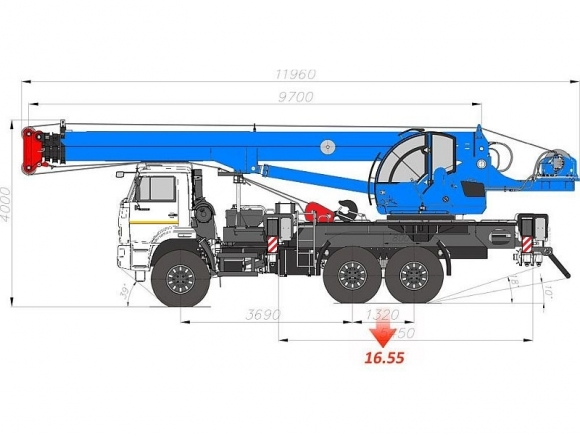 Чертеж автокрана клинцы 25 тонн