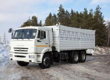 Бортовой зерновоз КАМАЗ 65115