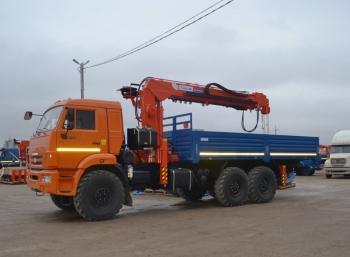 Бортовой автомобиль КАМАЗ 43118 (6x6) с КМУ Kanglim 2056 с буром