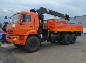 Бортовой автомобиль КАМАЗ 43118 (6x6) с КМУ HIAB 160TM-6