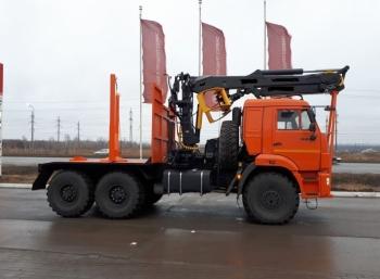 Лесовоз на шасси КАМАЗ 43118 (Е5) с МАЙМАН-110S