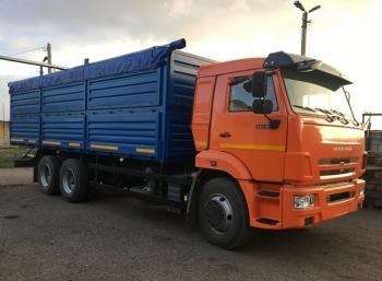 Бортовой зерновоз КАМАЗ 65115 29м³