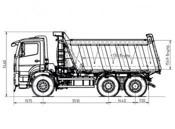 камаз-6580 чертеж