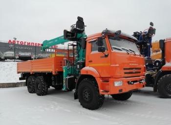 Бортовой автомобиль КАМАЗ 43118 (6x6) с КМУ HKTC HLC-7016L