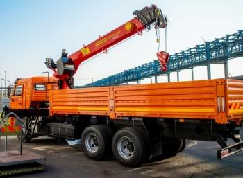 КАМАЗ 65115 с КМУ Hangil HGC976