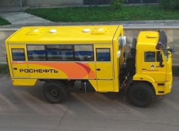 Вахтовый автобус на шасси КАМАЗ 5350