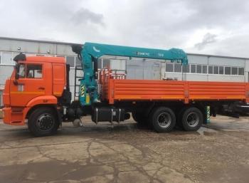 Бортовой автомобиль КАМАЗ 65115 с КМУ HKTC HLC-7016L