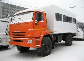 Автобус вахтовый с грузовым отсеком, 10 места КАМАЗ 43502